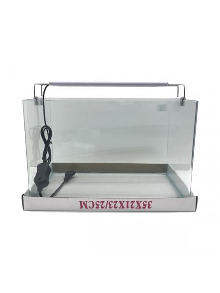 Аквариум прямоугольный стекло, 20 литров 350х220х250мм (ZELAQUA)