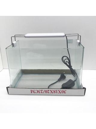 Аквариум прямоугольный стекло, 10 литров 300х180х200мм (ZELAQUA)