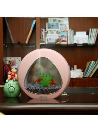 """Аквариум комплект """"sunsun"""" YA-01 розовый, 4 литра"""