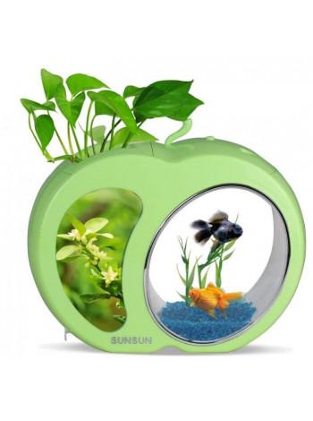 """Аквариумный комплект """"sunsun"""" YB-01 зеленый, 3 л"""