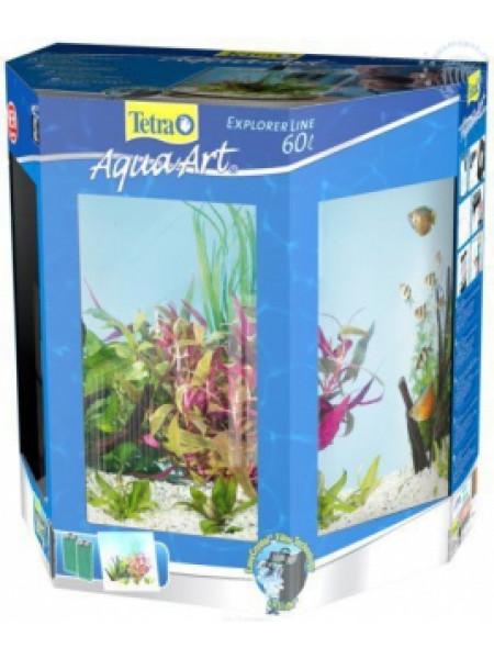 """Аквариум Tetra AquaArt Tropical 60 литров """"Полумесяц"""" с LED освещением"""