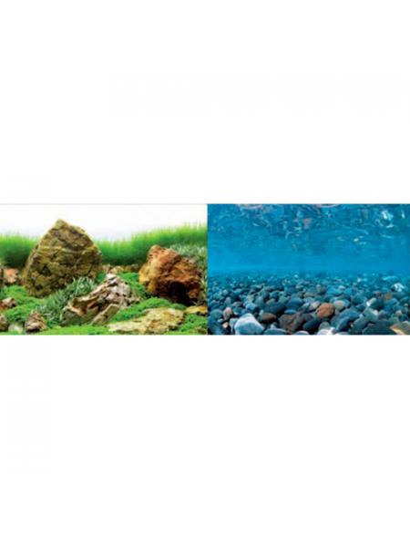 Фон для аквариума Barbus River Rock/Sea of Green (1 м. высота 30 см.)