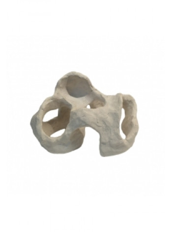 "Грот ""Камень керамический белый"" (24х15х16) см"