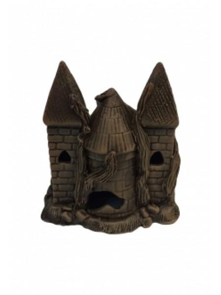 """Грот """"Замок двухбашенный темный"""" (15х10х15) см."""