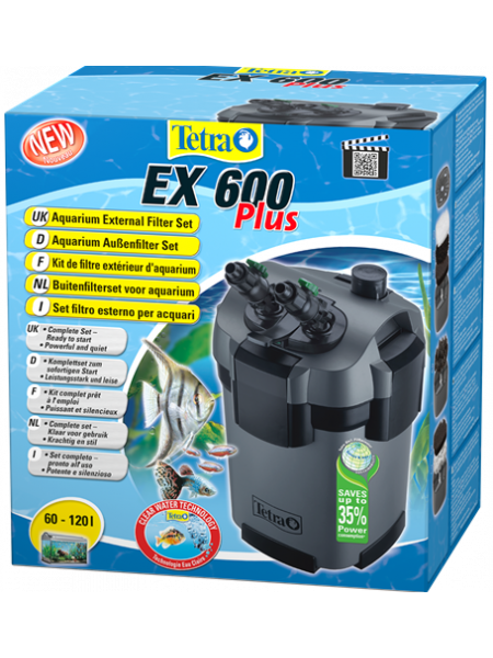 Tetra EX 600 Plus - внешний фильтр для аквариумов от 60 до 120 литров