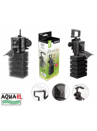 Фильтр внутренний Aquael PAT mini, 4w, 400л/ч, 10-120л