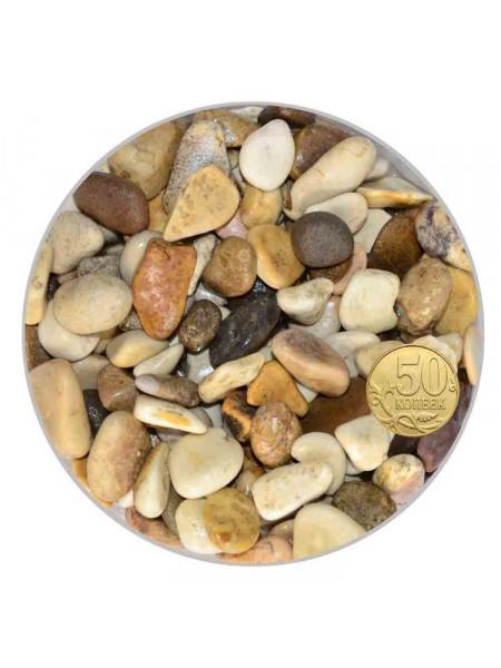 Грунт для аквариума Биодизайн Галька бело-коричневая 10-20мм. (пакет 4л. 5кг.)