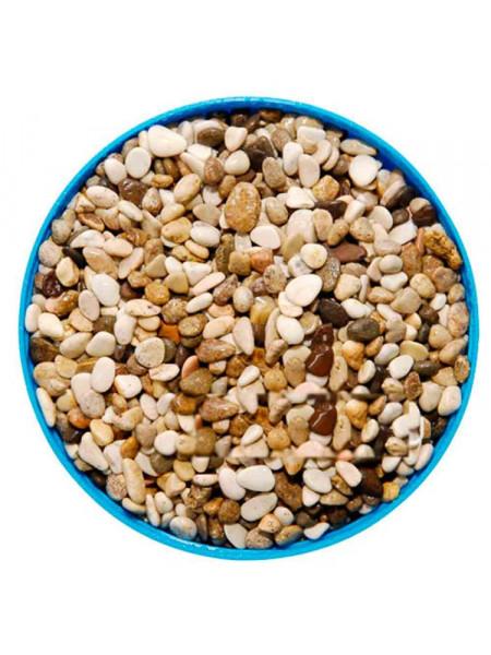 Грунт для аквариума Биодизайн Галька бело-коричневая 3-5мм. (пакет 4л. 5кг.)