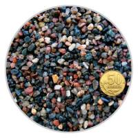 Грунт гранитный окатанный для аквариума Биодизайн Красно-черный 2-5 мм. (пакет 4л. 5кг.)