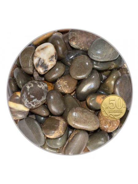 Галька для аквариума Биодизайн бело-черно-коричневая 15-25мм. (пакет 4л. 5кг.)