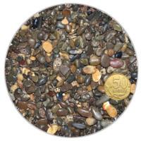 Галька для аквариума Биодизайн бело-черно-коричневая 3-5мм. (пакет 4л. 5кг.)