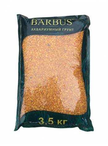 Грунт BARBUS мрамор крашенный оранжевый 2-4 мм.