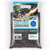 """UDeco River Dark - Натуральный грунт для аквариумов """"Тёмный гравий"""", 3-5 мм - 10 кг"""