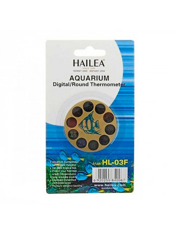 Термометр для аквариума Hailea (круглый жидкокристаллический)