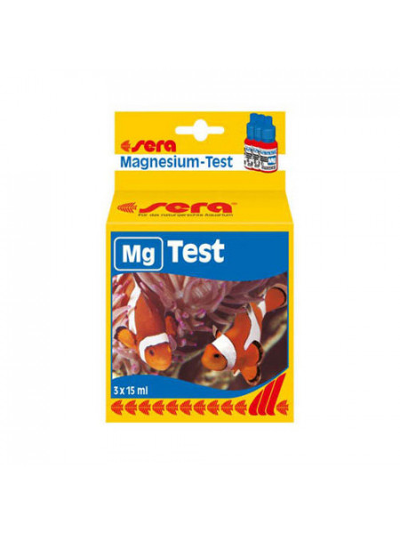 Тест для аквариума Магний Sera MG-Test 3x15мл.