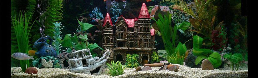 Искусственные декорации для аквариумов